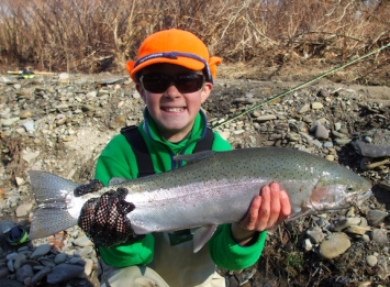 Gus's first steelhead