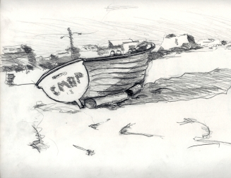 Sketchbook A 1 - Boat on beach