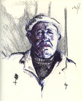 Sketchbook C 8 - Portrait of a worker-1984 100dpi rev