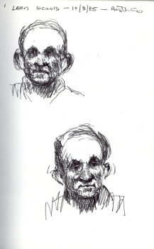Sketchbook D 1 - Portrait of Leon Golub -1985 100dpi rev