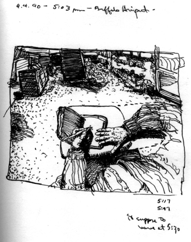 Sketchbook E 16 - Buffalo International Airport, Buffalo, NY