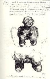 Sketchbook E 2 - Mexican Fertility goddess