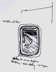 Sketchbook H 2 - Airplane Wing- Philadelphia to Miami