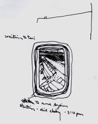 Sketchbook H 2 - Airplane Wing- Philadelphia to Miami