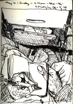 Sketchbook I 10 - Airplane - Boston to Buffalo