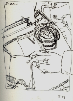 Sketchbook I 11 - Airplane - Boston to Buffalo