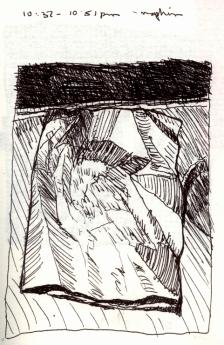 Sketchbook I 3 - Airplane Napkin