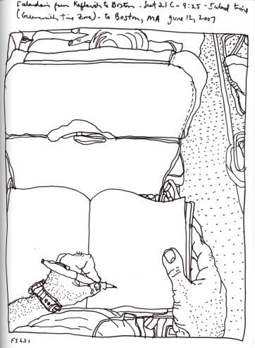 Sketchbook J 14 - Airplane - Icelandair
