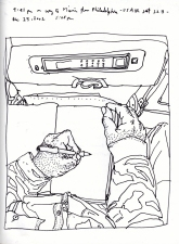 Sketchbook J 18 - Airplane - Miami to Philadelphia