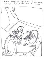 Sketchbook J 19 - Graciela's Shoes - Philadelphia to Buffalo