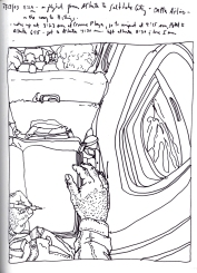 Sketchbook J 9 - Airplane - Atlanta to Salt Lake City