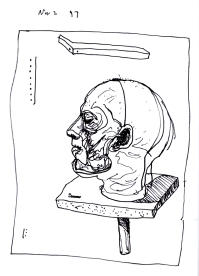 Sketchbook K 23 -Cutaway human head