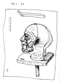 Sketchbook K 23 -Cutaway human head