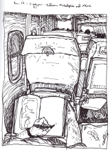 Sketchbook K 32 - Airplane - Between Philadelphia and Miami
