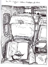 Sketchbook K 32 - Airplane - Between Philadelphia and Miami