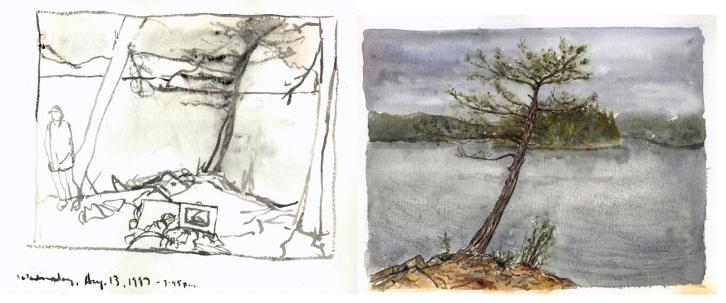 Sketchbook L 27C - Algonquin, Canada