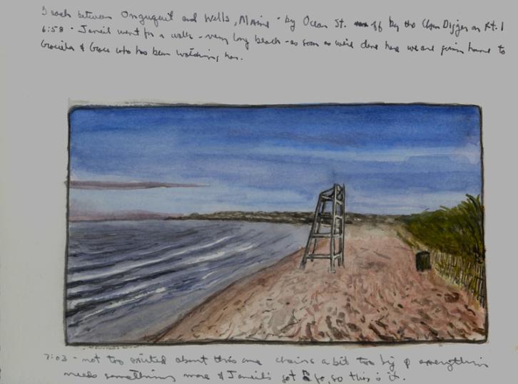 Sketchbook M 16 - Wells, Maine