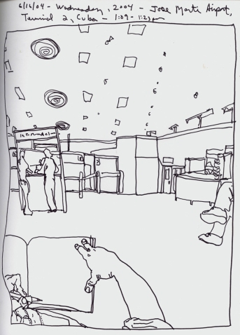 Sketchbook O 4- José Martí International Airport, Havana, Cuba 2004-100DPI rev