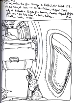Sketchbook O 7- Airplane - Chicago to Portland