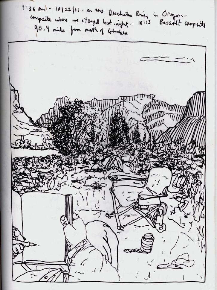 Sketchbook O 9 - Deschutes River