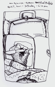 Sketchbook P 17 - Airplane - Between Hartford, RI and Buffalo, NY