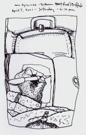 Sketchbook P 17 - Airplane - Between Hartford, RI and Buffalo, NY