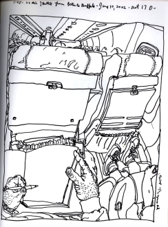 Sketchbook R 12 - Airplane - Boston to Buffalo