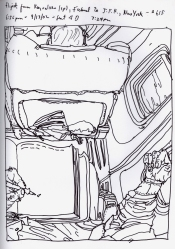 Sketchbook R 31 - Icelandair - Iceland to NYC