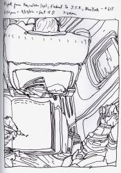 Sketchbook R 31 - Icelandair - Iceland to NYC