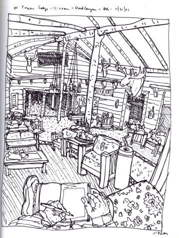 Sketchbook S 16 - El Tovar Lodge, Grand Canyon, AR