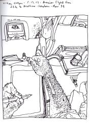 Sketchbook T 1 - Airplane - JFK to London