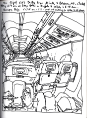 Sketchbook T 15 - Airplane - Atlanta to Bozeman, Montana