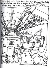 Sketchbook T 15 - Airplane - Atlanta to Bozeman, Montana