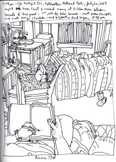 Sketchbook T 19 - Old Faithful Inn,Yellowstone Park