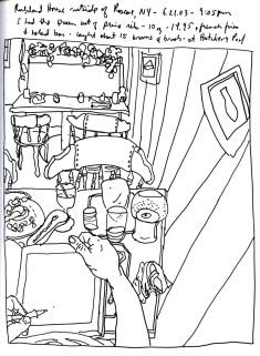 Sketchbook T 5 - Rockland House Restaurant