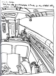 Sketchbook T 7 - Train - Philadelphia to Trenton