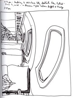 Sketchbook T 8 - Airplane to Oklahoma City, OK
