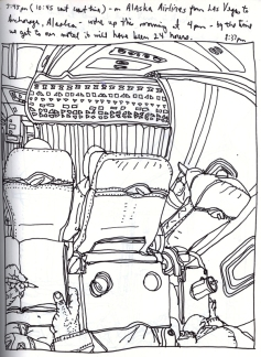 Sketchbook T 9 - Airplane - From Las Vegas, NV to Anchorage, Alaska
