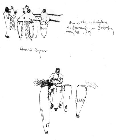 Sketchbooks C 1 - Harvard Square, Boston, MA