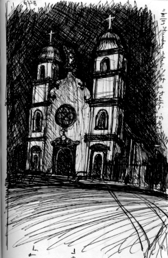 Sketchbooks E 11 - Our Lady of Good Voyage Church, Gloucester, MA