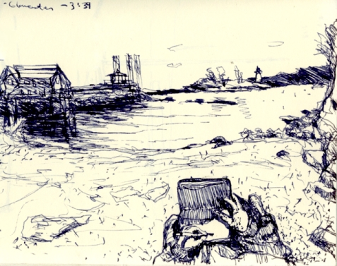 Sketchbooks E 17 - Inner Harbor, Gloucester, MA