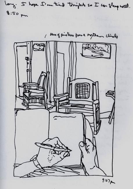Sketchbook H 5 - Living Room, Agramonte, Cuba