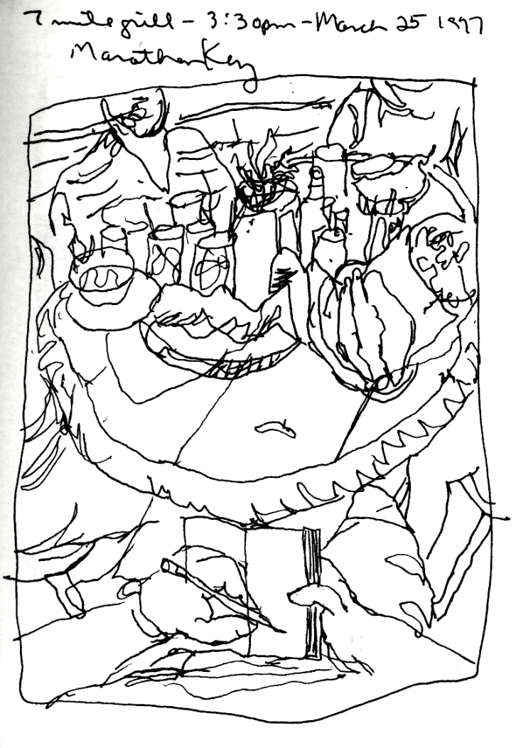 Sketchbooks I 6 - 7 Mile Grill - Marathon Key, FL-1997