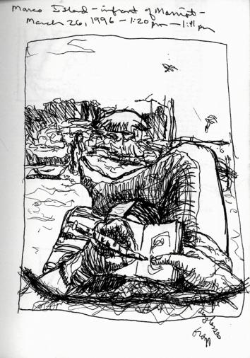 Sketchbooks I 8 - In Front of Mariott - Marco Island, FL
