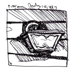 Sketchbooks K 11 - Porch Light, Dunkirk, NY
