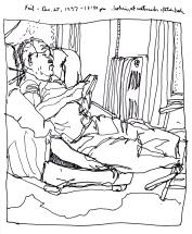 Sketchbooks K 30 - Neil, Living Room, Gloucester, MA