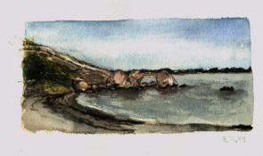 Sketchbooks L 11 - Cressy's Beach, Gloucester, MA