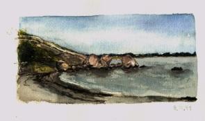 Sketchbooks L 11 - Cressy's Beach, Gloucester, MA