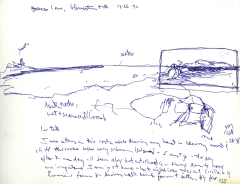 Sketchbooks L 2 - Brace's Cove Sketch, Gloucester, MA