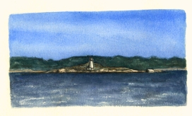 Sketchbooks L 23 - Ten Pound Island - From Half Moon Island, Gloucester, MA